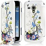 Seluxion HF01 - Funda tipo libro para Samsung Galaxy Trend Plus (incluye protector de pantalla), diseño de flores