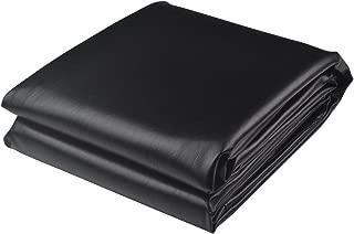 B62830000 570B6783000001 EN 8-Foot Fitted Heavy Duty Pool Table Cover Naugahyde Billiard Covers Black/Brown