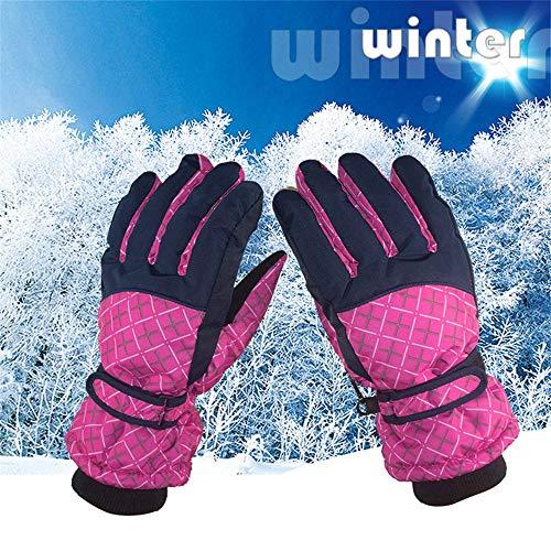 YIBANG-DIANZI para Esquiar de Invierno. para Mujer Invierno Guantes de Esquí Impermeables A Prueba de Agua Engrosado Cálido Moto de Nieve Moto de Nieve Clima Frío Guantes de Nieve Guantes de Esquí