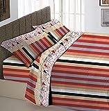 Juego completo de cama con estampado de Matitone, 100 % algodón, individual,...