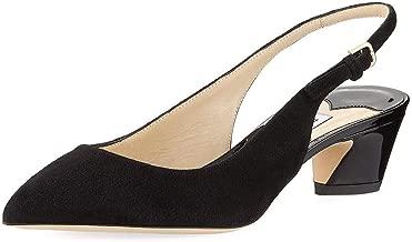 JIMMY CHOO Gemma Suede Slingback Pump Shoes 38.5 Black