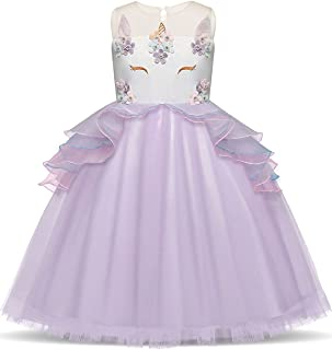 139a43ff5 ibtom castillo bebé niña flor de unicornio disfraz Cosplay vestido princesa  de cumpleaños eventos fiesta baile