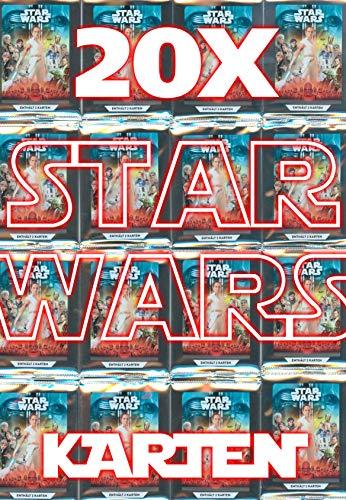 Star Wars Kaufland Sammelkarten Album einzelne Karten incl.WIZUALS Sticker (20 Star Wars Karten)