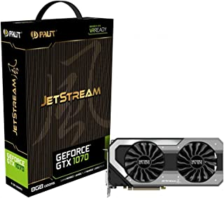 Palit NE51070015P2J GeForce GTX 1070 8GB GDDR5 - Tarjeta gráfica (NVIDIA, GeForce GTX 1070, 7680 x 4320 Pixeles, 2-Way SLI, GDDR5, PCI Express x16 3.0)