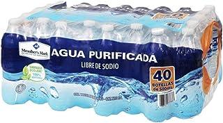 AGUA NATURAL PURIFICADA EMBOTELLADA MEMBERS MARK PAQUETE DE 40 BOTELLAS DE 500 ML C/U OFICINA CASA NEGOCIO HIDRATACION