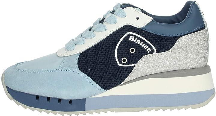 Sneakers da donna  blauer usa charlotte blu chiaro, s0charlotte05nes
