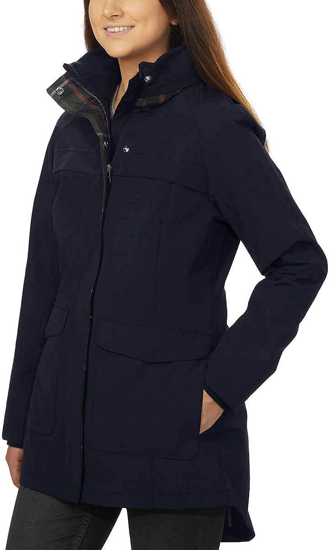 Amazon Com Pendleton Ladies Rain Jacket M Navy Clothing [ 1500 x 904 Pixel ]