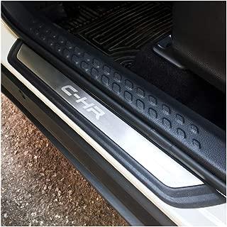 YEE PIN Lot de 4 baguettes de seuil en acier inoxydable pour X-Trail seuil de porte et p/édale de protection pour seuil de porte
