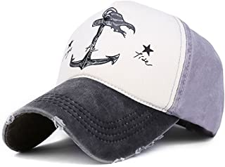 Vintage Style The Pirate Ships Anchor Printing Multicolor Adjustable Baseball Cap