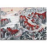 creativa Rompecabezas Puzzle Gran Muralla OtoñoToys can be customized Paper puzzle 75x50cm