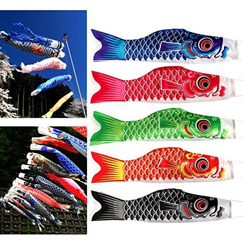 Bannières de carpe japonaise - Motif poissons multicolores