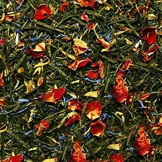 Grüner Tee lose Grüner Tee Sylter Morgenbrise Rosenblüten, Ringelblumen, Kornblumen Grüntee Aprikose-Bergamotte 250g