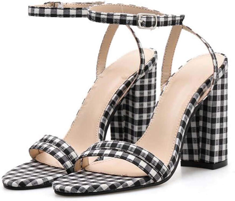 MSSugar Absatzsandalen für Damen Peep Toe Slingback Absatzpumps Stilettos Sandalen