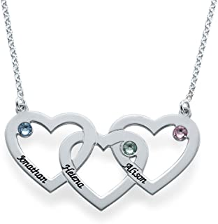 heart necklace with children's names