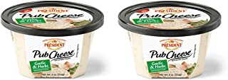PRÉSIDENT, Pub Cheese, Garlic and Herbs 8 oz (2 Pack)
