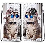 i-Case Etui en PU 360 Protection Full Cuir pour Samsung Galaxy A8 2018/A530F Coque Flip Case Housse...