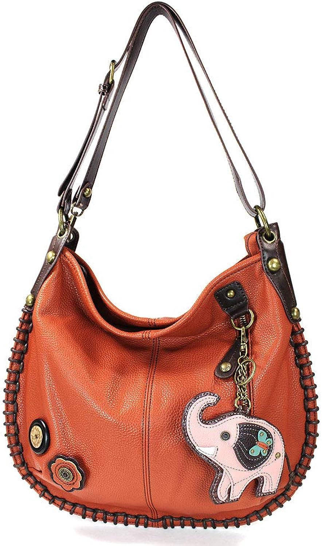 Chala Hobo Crossbody Large Tote Bag ELEPHANT orange Congreenible Pleather