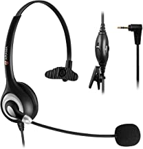$28 » Cordless Phone Headset Mono, 2.5mm Telephone Headset with Noise Canceling Mic for Panasonic KX-TG6071B, KX-TG6072B, KX-TG6073B, KX-TG6074B Cisco Call Center Home Office (A600CP)