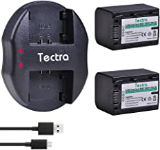 Tectra 2-Pack NP-FV70 Battery and Dual USB Charger for Sony HDR-CX190 HDR-CX200 HDR-CX210 HDR-CX220 HDR-CX230 HDR-CX260V HDR-CX290 HDR-CX380 HDR-CX430V HDR-CX580V HDR-CX760V HDR-PJ230 Camcorders