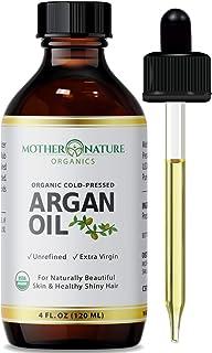 Argan Oil - 100% Pure Argan Oil for Hair, Face, Skin & Nails (4oz) - USDA Certified Organic Argan Oil of Morocco, Cold Pre...
