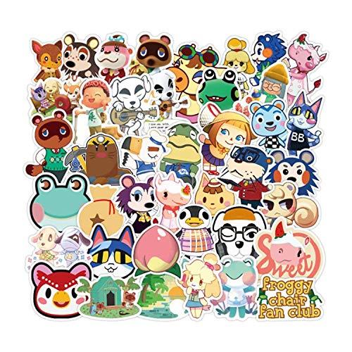 WayOuter Animal Crossing Pegatina 100 Piezas Calcomanías Vinilos para computadora...