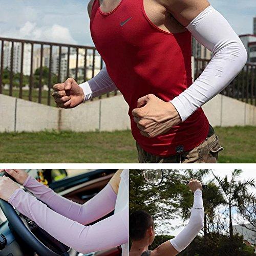 AoToZan Sport Armlinge Arm Ärmel Compression Kühler Anti-UV Schutz Handschuh (5 Paar Grau) - 5