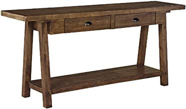 Signature Design by Ashley Sofa Table, Weathered Brown