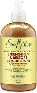 Shea Moisture Jamaican Black Castor Oil Strengthen & Restore Conditioner, with Shea Butter, Peppermint & Apple Cider Vineg...