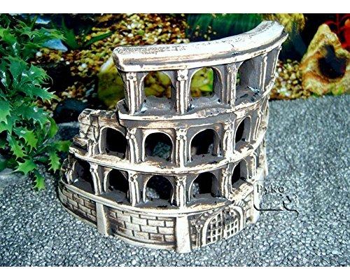 ZooPaul Deko Aquarium Arena Höhle Fische Keramik Dekoration Koloseum römische Ruine Neu
