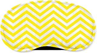 Chevron Stripes Yellow - Sleeping Mask - Sleeping Mask