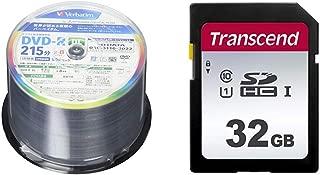 【セット買い】三菱ケミカルメディア Verbatim 1回録画用 DVD-R DL VHR21HP50V1FFP(片面2層/8倍速/50枚) [フラストレーションフリーパッケージ(FFP)] & Transcend SDカード 32GB UHS-I Class10 (最大転送速度95MB/s) 5年保証 TS32GSDC300S-E