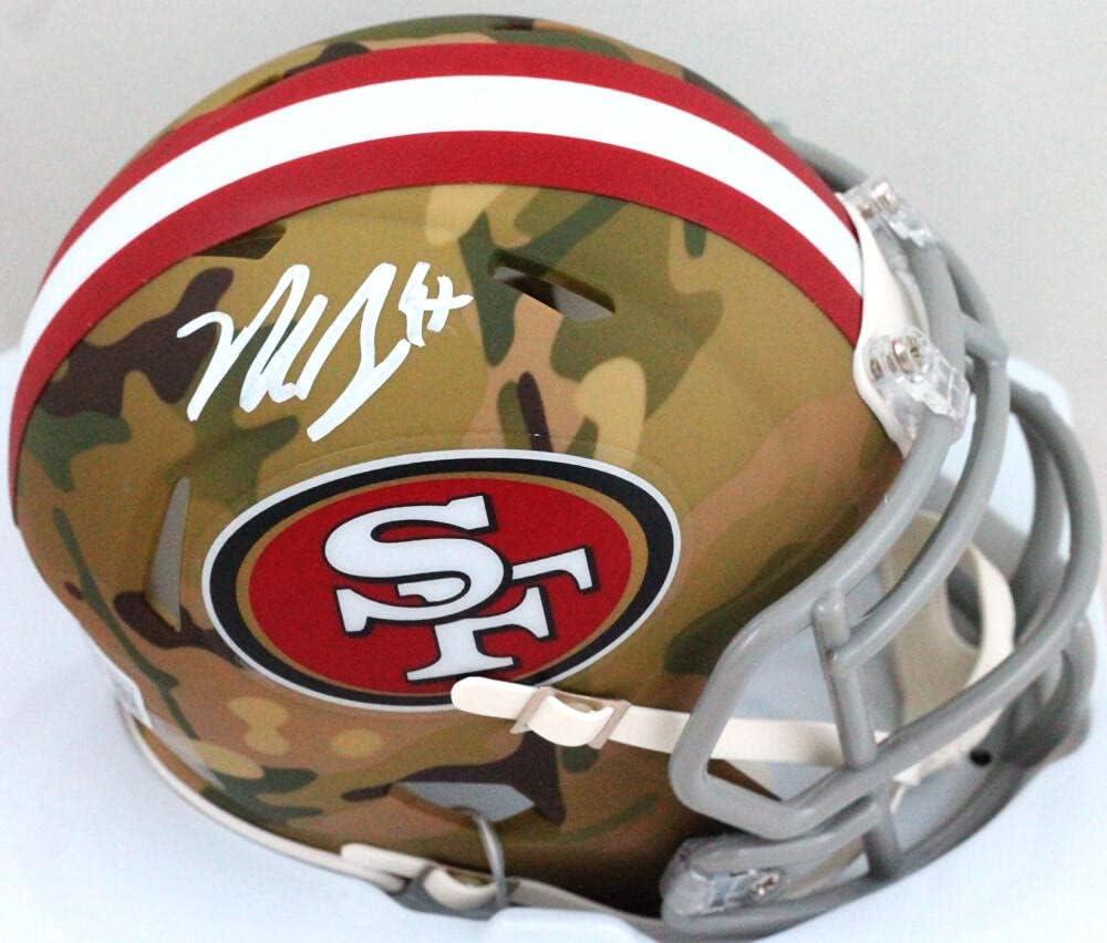 Nick Bosa Autographed San Francisco Helmet NEW before selling ☆ Camo 49ers Mini Cheap bargain Speed
