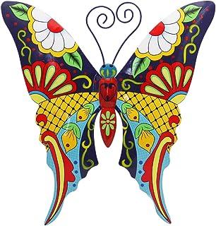Juegoal Metal Wall Art Inspirational Butterfly Wall Decor Sculpture Hang Indoor Outdoor for Home, Bedroom, Living Room, Office, Garden (Butterfly)