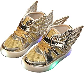 BY0NE Boys Girls Children Led Kids Light up Sports Shoes Luminous Glowing Sneakers Flats Shoes