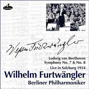 Beethoven : Symphonies No.7 & 8 (Live in Salzburg 1954)