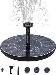 MIGHTDUTY Solar Fountain Pump, 2.5W Solar Bird Bath Fountain Pump with 800 MAh Battery Backup, Free Standing Solar Powered Water Fountain Pump for Bird Bath, Outdoor Pond, Pool, Garden, Fish Tank