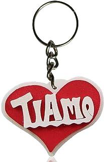 Portachiavi in legno con la scritta Ti Amo, a forma di cuore, fatto a mano, da indossare o come un regalo originale per Sa...
