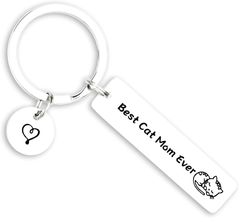 Kivosliviz Cat Jewelry for Women Keychain Cat Owner Gift Idea for Cat Lovers Cat Keychains