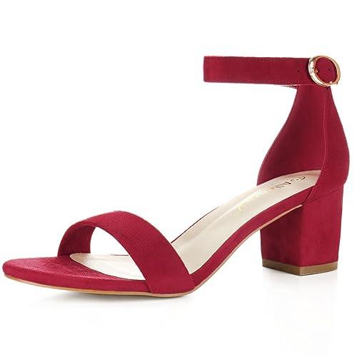 b770ecbc16b Allegra K Women s Open Toe Block Heel Ankle Strap Sandals
