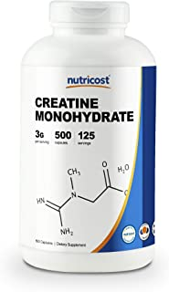 Nutricost Creatine Monohydrate 750mg, 500 Capsules