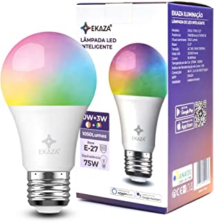 Smart Lampada Inteligente Wi-Fi 10w+3w 1050 lumens, EKAZA, Compatível com Alexa