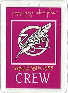 Page Plant Backstage Pass 1995 Wold Tour Laminate Crew