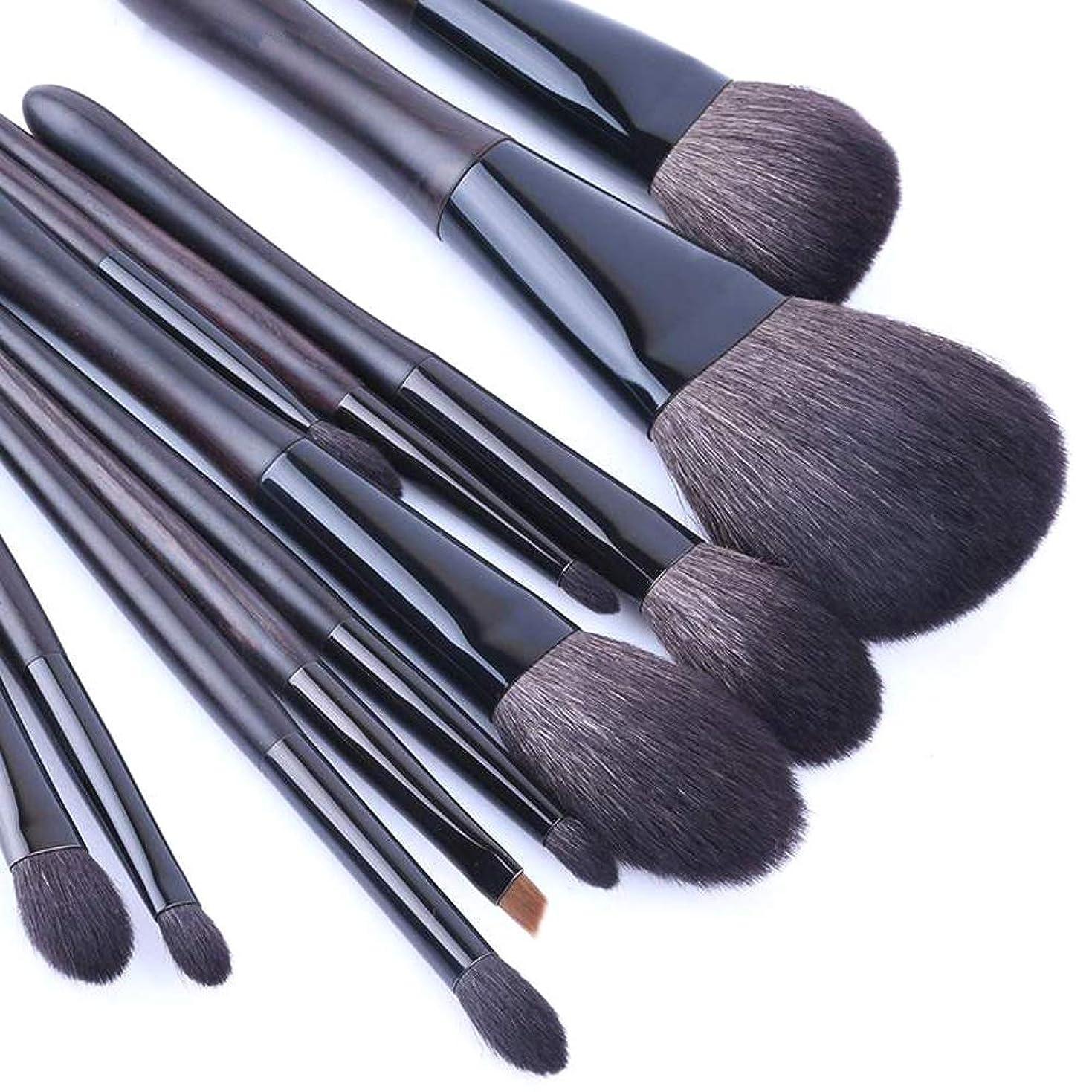 ジャングル高原ペフBTXXYJP メイクブラシ 化粧筆 日常メイク 多機能 軽量 柔らかい ブラシ 12本セット