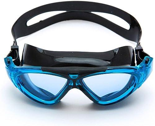 WYJW Lunettes de natation lunettes de natation adultes transparentes anti-buée universelles pour hommes (couleur  ROUGE)