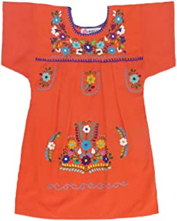 Mexican Clothing Co Little Girls Mexican Dress Traditional Tehuacan Poplin CT