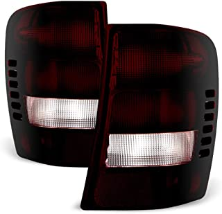 ACANII - For 1999-2004 Jeep Grand Cherokee Red Smoke Rear Tail Lights Brake Lamps Left+Right