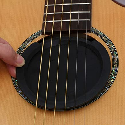 Acoustic Guitar Soundhole Cover Screeching Sound Hole Cover Cap Sound Hole Inlay Stud Hole Cover Block Plug Bracket(for 40/41 Inches Guitar)