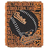 MLB Baltimore Orioles 'Double Play' Woven Jacquard Throw Blanket, 48' x 60'