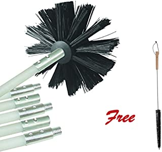 Dryer Vent Cleaning Kit (7 Piece Set) Free Dryer Lint Brush, Clear The Dryer Lint. Dryer Vent Cleaning System Can Extended Dryer Service Life, Improve The Work Efficiency and Avoid Fire.