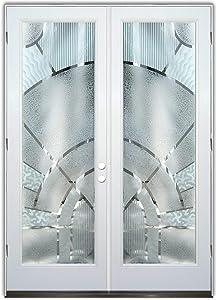 Glass Front Entry Door Sans Soucie Art Glass Matrix Arcs 3D